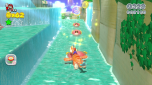 Evocative of Super Mario Sunshine, this level has you riding the back of a Yoshi at high speed through a winding river.