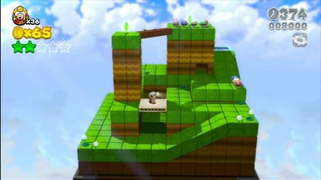 A number of levels take a break from platforming and introduce a puzzling aspect.