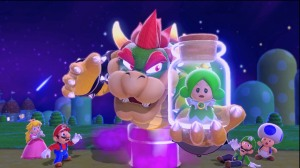 Bowser is back of course, but this time it's not Peach you need to rescue.