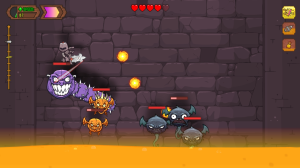 Miss too many enemies or ascend to slowly, and you'll find yourself rapidly fighting against rising lava.