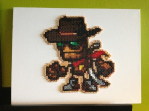 A fan of Steamworld Dig sent in this recreation of Rusty, made from beads. It takes pride of place in the office.